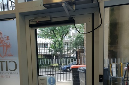 Automated external door