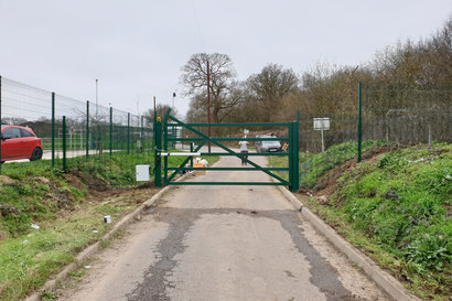 Green gate distant